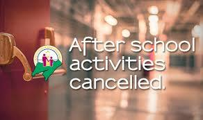 AFTERSCHOOL Canceled Thursday  April 26