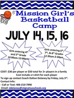 ​Mission Girl's Basketball Camp