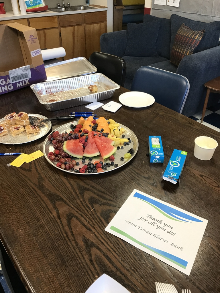 Glacier Bank Breakfast - Well Received :)