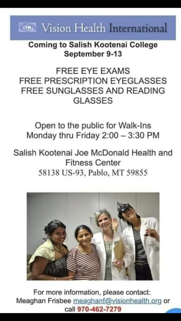 Free eye exam and glasses -
